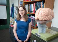 Carmel Levitan, Professor, Cognitive Science, August 17, 2009. For Occidental College faculty portraits. (Photo by Marc Campos, Occidental College Photographer)