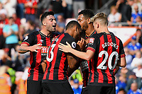 AFC Bournemouth players mob goalscorer Ryan Fraser of AFC Bournemouth during AFC Bournemouth vs Leicester City, Premier League Football at the Vitality Stadium on 15th September 2018