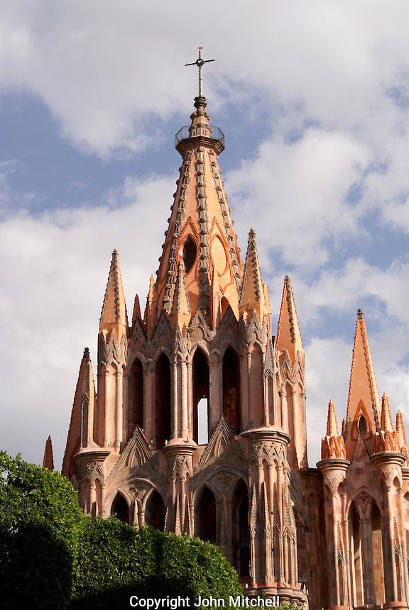 The Parish Church or Parroquia de San Miguel Arcangel in San Miguel de Allende, Mexico