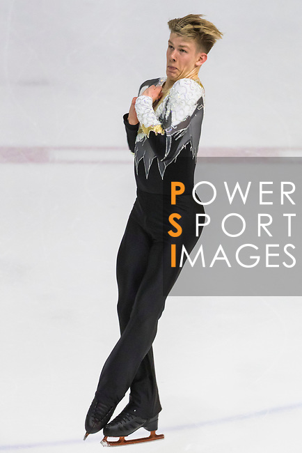 Harrison Bain of New Zealand competes in Junior Men group during the Asian Open Figure Skating Trophy 2017 at Mega Ice on 03 August, 2017 in Hong Kong, China. Photo by Yu Chun Christopher Wong / Power Sport Images