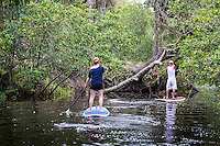 Visitors paddle down Estero River at Koreshan State Historic Site, a 200-acre park, Estero, Florida, USA. Photo by Debi Pittman Wilke.
