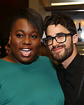 Alex Newell and Darren Criss attends the After Party for the Dramatists Guild Foundation toast to Stephen Schwartz with a 70th Birthday Celebration Concert at The Hudson Theatre on April 23, 2018 in New York City.