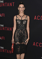 """HOLLYWOOD, CA - OCTOBER 10:  Angela Sarafyan at the Los Angeles world premiere of """"The Accountant"""" at TCL Chinese Theater on October 10, 2016 in Hollywood, California. Credit: mpi991/MediaPunch"""