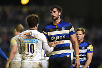 Luke Charteris of Bath Rugby looks on after the match. Aviva Premiership match, between Bath Rugby and Wasps on December 29, 2017 at the Recreation Ground in Bath, England. Photo by: Patrick Khachfe / Onside Images