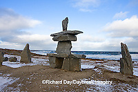 60595-010.08 Inukshuk near Hudson Bay Churchill MB Canada
