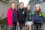Sarah Horan, Lillie Gaynor, Caoimhe Regan and Grainne Carroll supporting Kilmoyley at the County Hurling Finals in Austin Stack Park on Sunday.