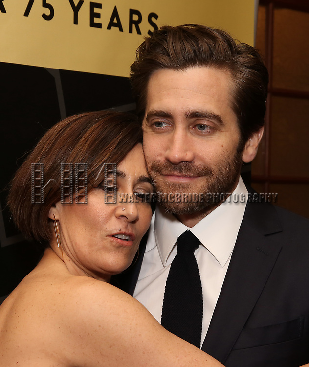 """Jeanine Tesori and Jake Gyllenhaal attend the New York City Center Celebrates 75 Years with a Gala Performance of """"A Chorus Line"""" at the City Center on November 14, 2018 in New York City."""