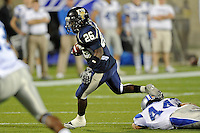 4 December 2010:  FIU running back Darrian Mallary (26) carries the ball in the first quarter as the Middle Tennessee State University Blue Raiders defeated the FIU Golden Panthers, 28-27, at FIU Stadium in Miami, Florida.