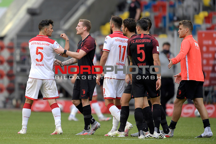 v.li:Kaan AYHAN (Fortuna Duesseldorf),Zwiest ,streit <br />