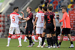 v.li:Kaan AYHAN (Fortuna Duesseldorf),Zwiest ,streit <br />mit Andre HAHN (FC Augsburg).Rudelbildung.<br /><br />Fussball 1. Bundesliga, 33.Spieltag, Fortuna Duesseldorf (D) -  FC Augsburg (A), am 20.06.2020 in Duesseldorf/ Deutschland. <br /><br />Foto: AnkeWaelischmiller/Sven Simon/ Pool/ via Meuter/Nordphoto<br /><br /># Editorial use only #<br /># DFL regulations prohibit any use of photographs as image sequences and/or quasi-video #<br /># National and international news- agencies out #