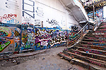 Abandoned Power Station Staircase 03 - The abandoned South Fremantle Power Station, North Coogee, Perth, Western Australia.