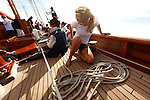 "Onboard Altair during ""Les voiles de saint Tropez"", France."