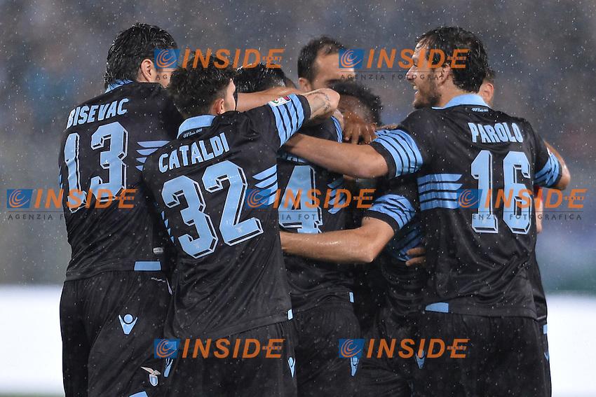 Esultanza dopo il gol di Senad Lulic Lazio. goal celebration.<br /> Roma 15-05-2016  Stadio Olimpico<br /> Campionato Serie A,<br /> Lazio - Fiorentina<br /> Foto Antonietta Baldassarre / Insidefoto