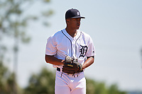 Detroit Tigers Dane Myers (51) during a Minor League Spring Training game against the Toronto Blue Jays on March 22, 2019 at the TigerTown Complex in Lakeland, Florida.  (Mike Janes/Four Seam Images)