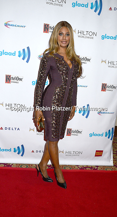 Laverne Cox attends the 25th Annual GLAAD Media Awards at the Waldorf Astoria Hotel in New York City, NY on May 3, 2014.