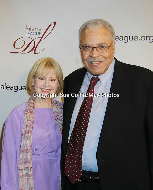 James Earl Jones and wife at The 78th Annual Drama League Awards on May 18, 2012 at the New York Marriott Marquis, New York City, New York. (Photo by Sue Coflin)