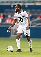 KANSAS CITY, KS - JUNE 26: Kevin Molino #10 during a game between Guyana and Trinidad