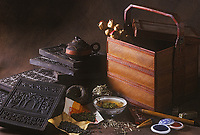 Asie/Chine/Jiangsu/Nankin: Thé de Chine - Boîte à thé et théière