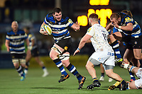 James Phillips of Bath Rugby takes on the Worcester Warriors defence. Aviva Premiership match, between Worcester Warriors and Bath Rugby on January 5, 2018 at Sixways Stadium in Worcester, England. Photo by: Patrick Khachfe / Onside Images