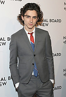 NEW YORK, NY - JANUARY 09: Timothe'e Chalamet attends the 2018 National Board Of Review Awards Gala at Cipriani 42nd Street on January 9, 2018 in New York City.  <br /> CAP/MPI/JP<br /> &copy;JP/MPI/Capital Pictures