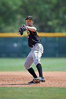 Pittsburgh Pirates Jordan George (99) during a minor league Spring Training game against the New York Yankees on April 1, 2016 at Pirate City in Bradenton, Florida.  (Mike Janes/Four Seam Images)