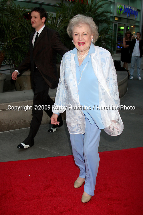 Betty White arriving at the Love N' Dancing Premiere at the Arclight Cinemas in  Los Angeles, CA  on May 6, 2009.©2009 Kathy Hutchins / Hutchins Photo....                .