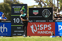 Danny Willett (ENG) in action on the 10th during Round 1 of the ISPS Handa World Super 6 Perth at Lake Karrinyup Country Club on the Thursday 8th February 2018.<br /> Picture:  Thos Caffrey / www.golffile.ie<br /> <br /> All photo usage must carry mandatory copyright credit (&copy; Golffile | Thos Caffrey)