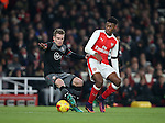 Arsenal's Jeff Reine-Adelaide tussles with Southampton's Steven Davis during the EFL Cup match at the Emirates Stadium, London. Picture date October 30th, 2016 Pic David Klein/Sportimage