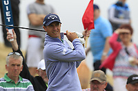 Nicolas Colsaerts (BEL) on the 8th tee during Saturday's Round 3 of the 2018 Dubai Duty Free Irish Open, held at Ballyliffin Golf Club, Ireland. 7th July 2018.<br /> Picture: Eoin Clarke | Golffile<br /> <br /> <br /> All photos usage must carry mandatory copyright credit (&copy; Golffile | Eoin Clarke)