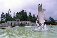 "Campbellton, NB, New Brunswick, Canada -  World's Largest Atlantic Salmon Sculpture called ""Restigouche Sam"""
