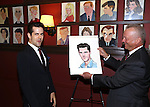 Robert Fairchild with Max Klimavicius attend the 'An American In Paris' Sardi's Caricature Unveiling at Sardi's on May 28, 2015 in New York City.