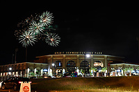 Post-game fireworks following a game between the Columbia Fireflies and Augusta GreenJackets on Saturday, July 29, 2017, at Spirit Communications Park in Columbia, South Carolina. Columbia won, 3-0. (Tom Priddy/Four Seam Images)
