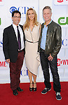 BEVERLY HILLS, CA - JULY 29: Dan Bucatinsky, Lisa Kudrow and Writer Dan Roos arrive at the CBS, Showtime and The CW 2012 TCA summer tour party at 9900 Wilshire Blvd on July 29, 2012 in Beverly Hills, California.