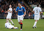Lee Wallace celebrates after scoring goal no 2 for Rangers