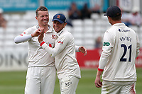 Peter Siddle of Essex taking the wicket of Michael Burgess during Essex CCC vs Warwickshire CCC, Specsavers County Championship Division 1 Cricket at The Cloudfm County Ground on 14th July 2019