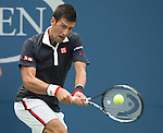 Novak Djokovic (SRB) defeats Andreas Seppi (ITA) 6-3, 7-5, 7-5 at the US Open in Flushing, NY on September 4, 2015.