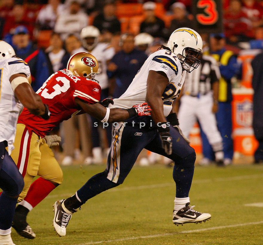 VAUGHN MARTIN, of the San Diego Chargers, in action during the Chargers game against the San Francisco 49ers on September 2, 2010 in San Francisco, California. ..49ers beat the Chargers 17-14.