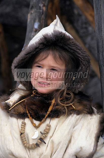 Amérique/Amérique du Nord/Canada/Quebec/Fjord du Saguenay/Village Huron (amérindiens) : Site archéologique de Robe Noire - Anouka Tremblay indienne [Autorisation : 209]