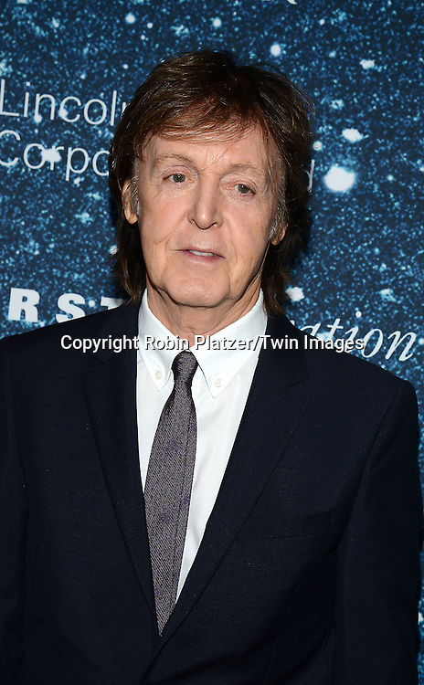 Sir Paul McCartney attend the Stella McCartney Honored by Lincoln Center Gala on November 13, 2014 at Alice Tully Hall in New York City, USA. She was given the Women's Leadership Award which was presented bythe LIncoln Center for the Performing Arts' Corporate Fund.<br /> <br /> photo by Robin Platzer/Twin Images<br />  <br /> phone number 212-935-0770