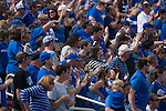 Fans cheer during the Blue/White Spring Game in Lexington, Ky., on Saturday, April 26, 2014. Blue defeated White 38-14. Photo by Adam Pennavaria | Staff
