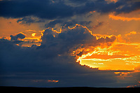 Sunset on prairie, Val Marie, Saskatchewan, Canada