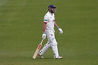 Nick Browne of Essex leaves the field having been dismissed for 9 during Surrey CCC vs Essex CCC, Specsavers County Championship Division 1 Cricket at the Kia Oval on 12th April 2019