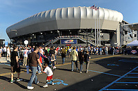 The exterior of Red Bull Arena prior to a friendly between Sanots FC and the New York Red Bulls at Red Bull Arena in Harrison, NJ, on March 20, 2010.