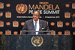 Opening Plenary Meeting of the Nelson Mandela Peace Summit<br /> <br /> His Excellency Arthur Peter MUTHARIKAPresident of the Republic of Malawi