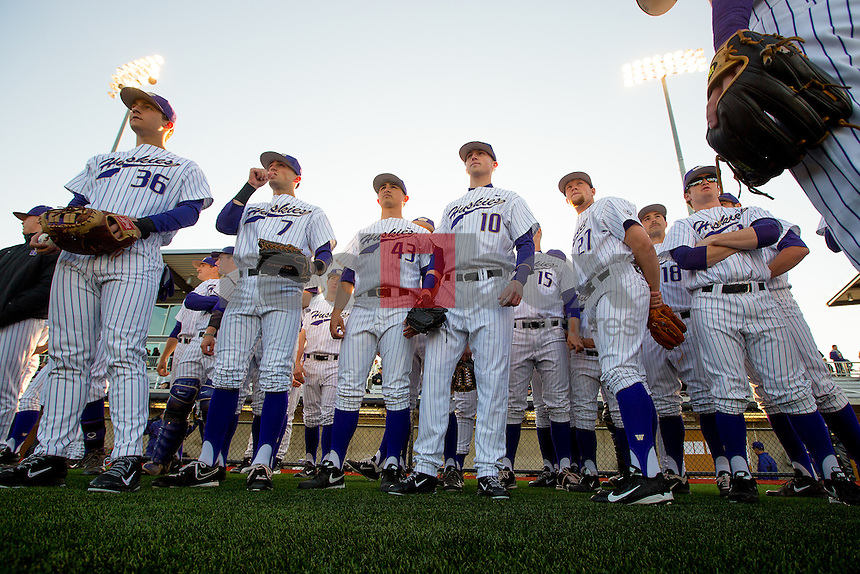 The University of Washington baseball team defeats Arizona 8-7 in the opening game at the new Husky Baseball Stadium March 21, 2014.(Photo by Scott Eklund/Red Box Pictures)
