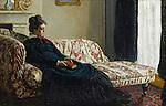 Claude Monet - Meditation, Mrs. Monet Sitting on a Sofa (1870-1871). Paris, musée d'Orsay.