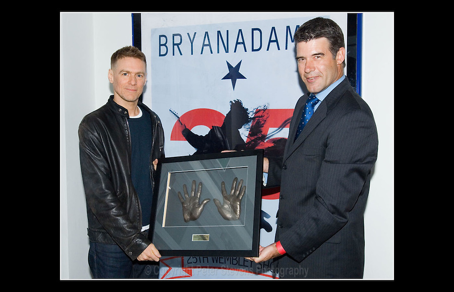 Bryan Adams - Unveiling of 'Square of Fame'plaque - Wembley Arena, London - 10th May 2007