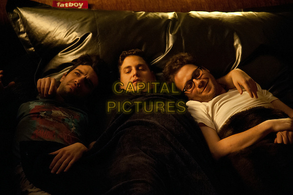 Jay Baruchel, Jonah Hill, Seth Rogen<br /> in This Is the End (2013) <br /> *Filmstill - Editorial Use Only*<br /> CAP/NFS<br /> Image supplied by Capital Pictures
