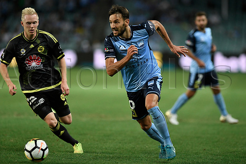 2nd February 2018, Allianz Stadium, Sydney, Australia; A League Football, Sydney FC versus Wellington Phoenix; Milos Ninkovic of Sydney