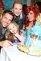 LOS ANGELES - NOV 25:  Scott Bailey, Adrienne Frantz, Amelie Bailey, Ariel Charachter at the Amelie Bailey 3rd Birthday Party at a Private Residence on November 25, 2018 in Studio City, CA
